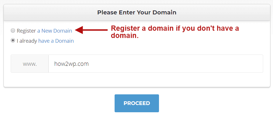 Register a Domain Name with SiteGround
