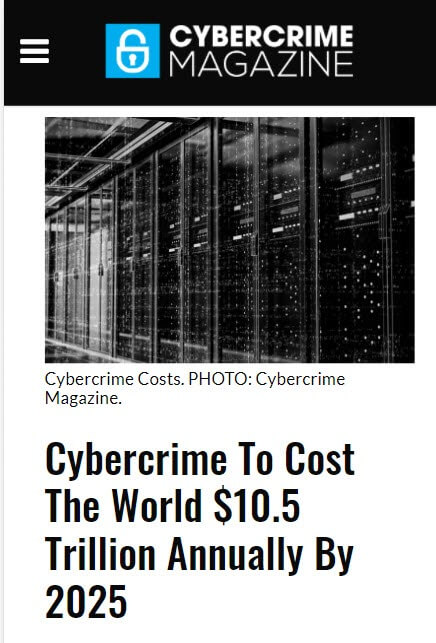 Cybercrime To Cost 10 Trillion Dollars 1