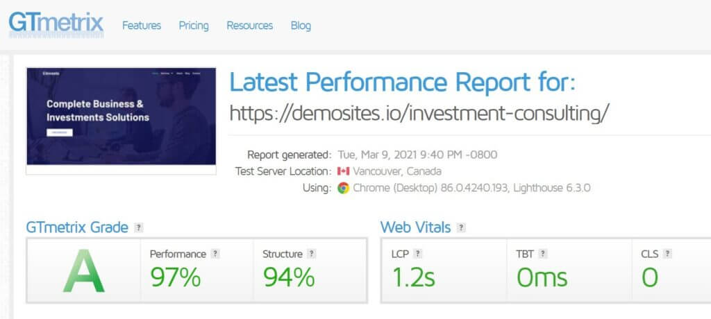 Gtmertrix Performance Report For Generate Press