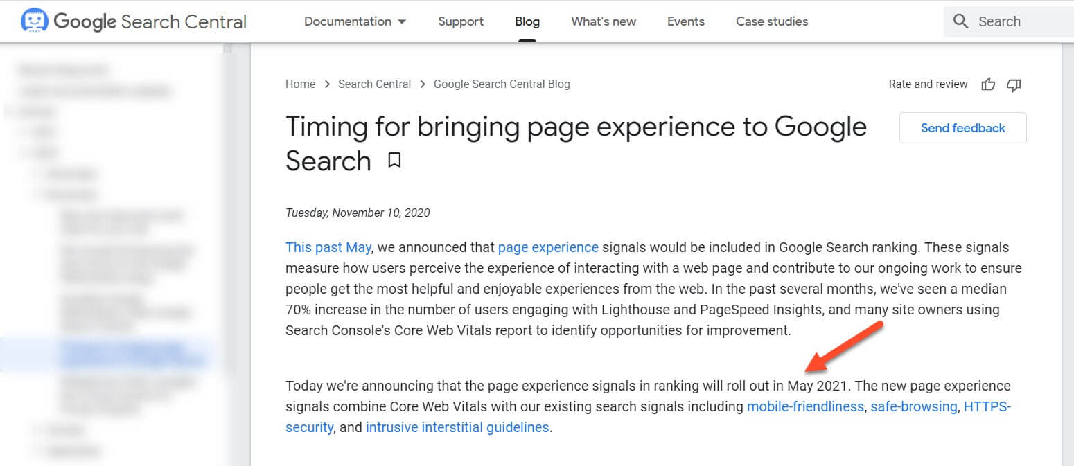 Page Experience To Google Search In May 2021