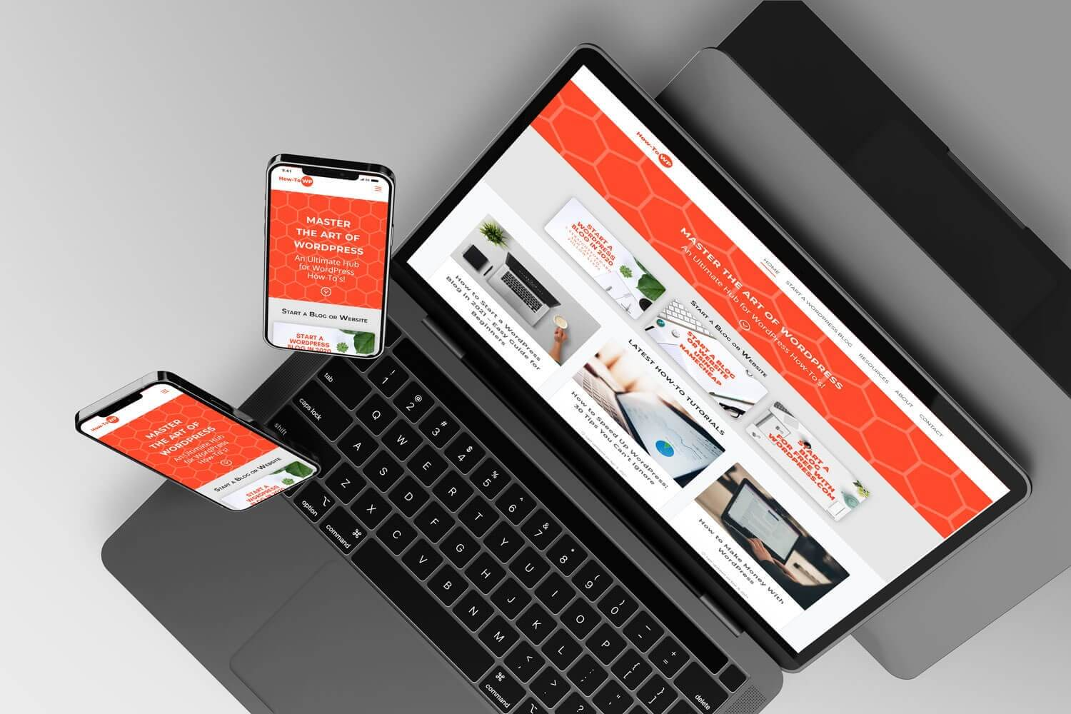 Responsive Howtowp Website 1